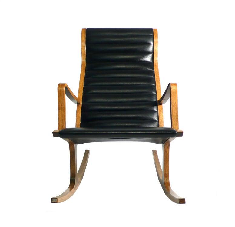 Heron Rocking Chair and Ottoman by Mitsumasa Sigasawa at 1stdibs
