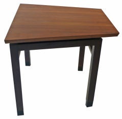 Dunbar Wedge Table Wormley mahogany walnut 1960s