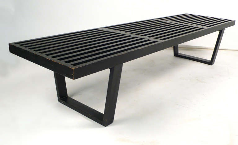 Vintage Black George Nelson Bench At 1stdibs