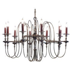 Spectacular Silver Plated 10 arm Chandelier