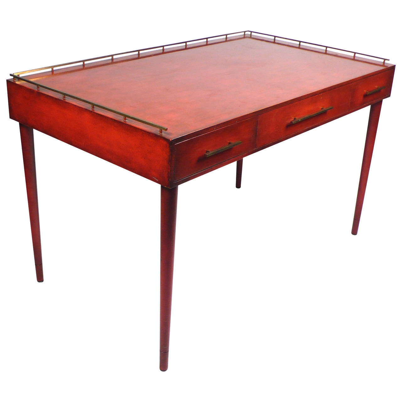 Imperial Coffee Table Unique Three Drawer Writing Desk By Imperial For Sale At 1stdibs