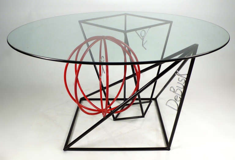 Table And Four Chairs By Internationally Renowned Sculptor Barrett Debusk At 1stdibs