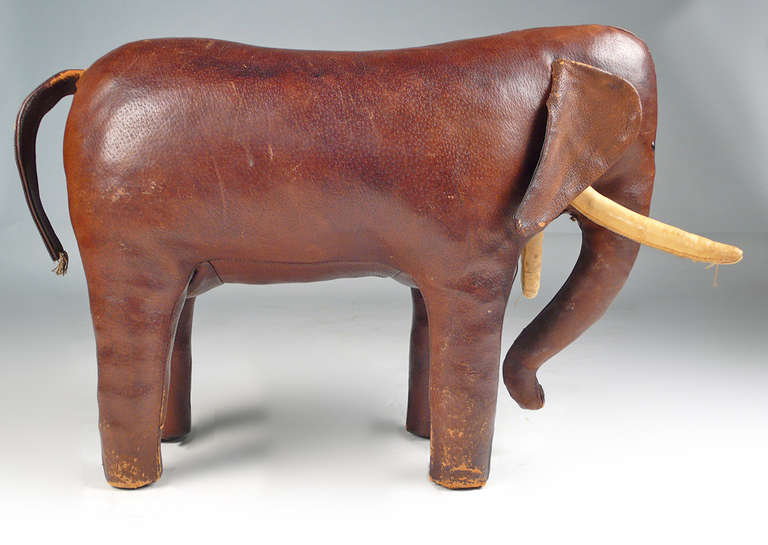 Leather Abercrombie Elephant For Sale