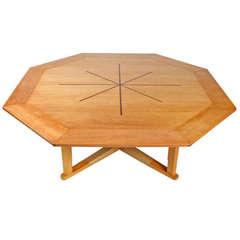 Octagonal Sunburst Table by Edward Wormley for Dunbar