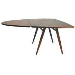 1960's George Nakashima Studio Made Walnut Drop Leaf Dining Table / Desk