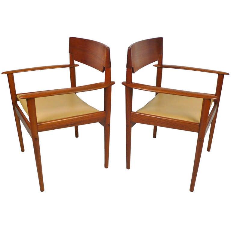 Teak Arm Chairs by Grete Jalk