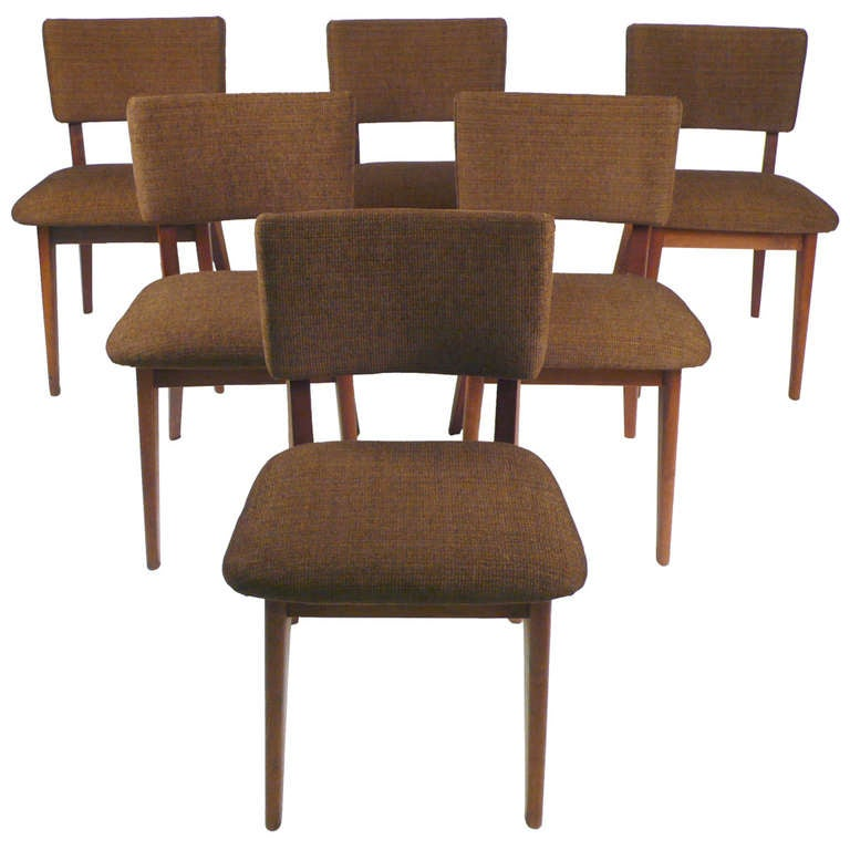 Set Of Six Hand Crafted Dining Chairs At 1stdibs