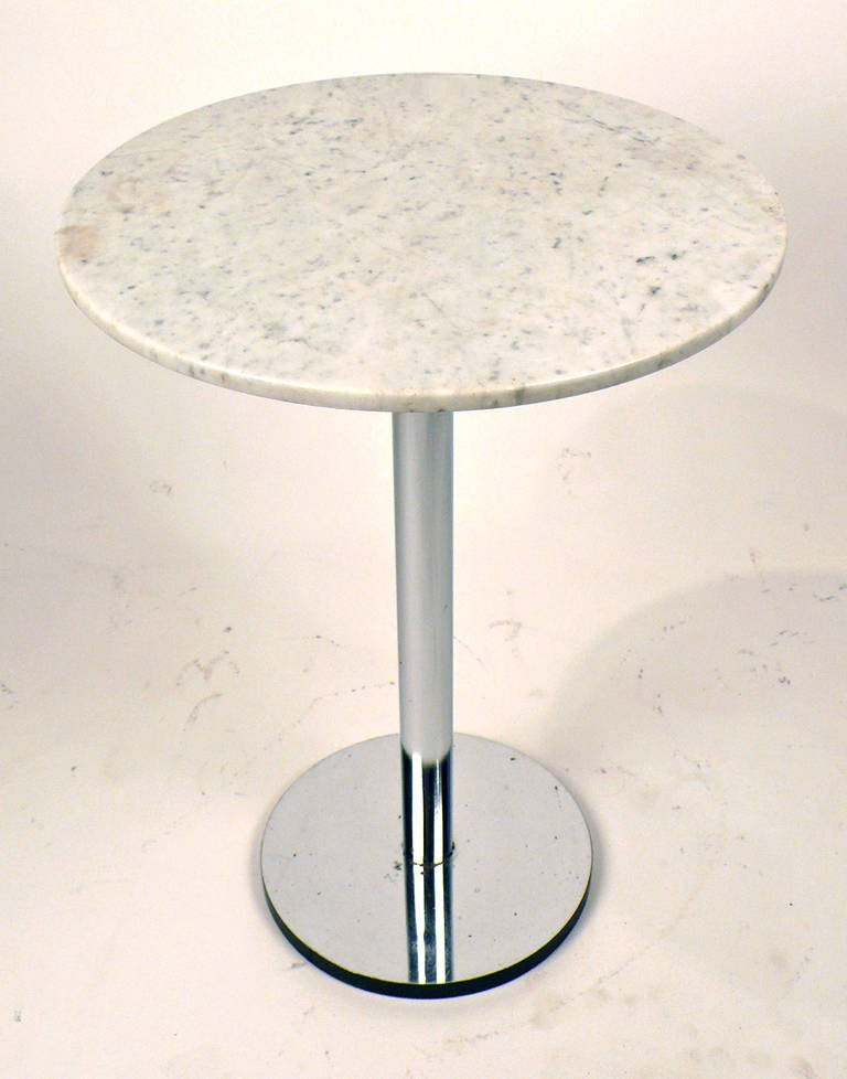 Marble side table designed by Hugh Acton.