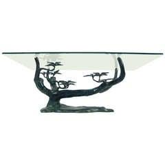 Bronze Bonsai Tree Sculpture Cocktail Table