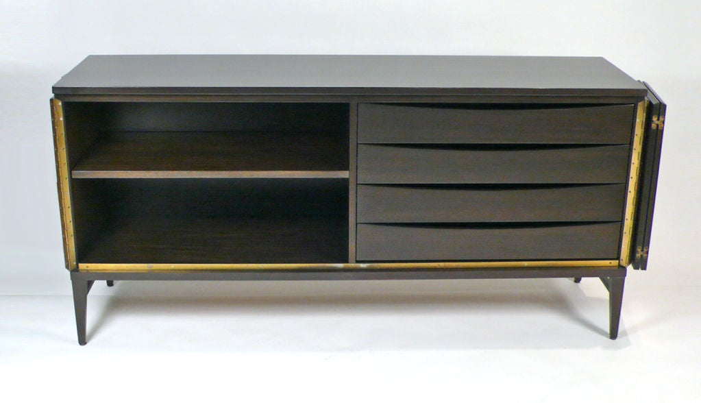 Mahogany Six-Door Credenza Designed by Paul McCobb, The Irwin Collection For Sale