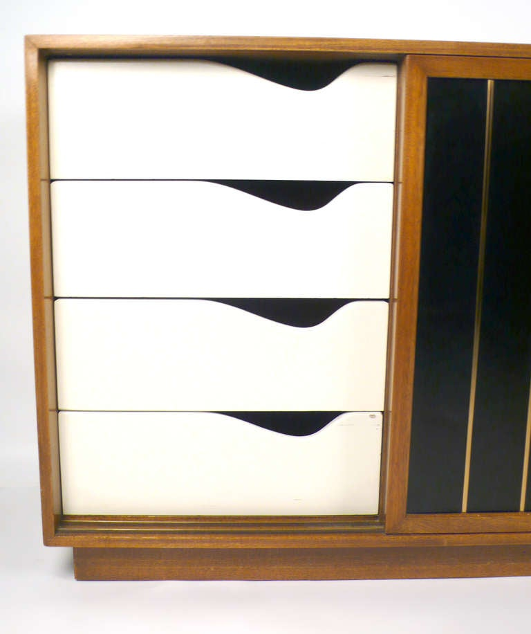 Leather Faced Probber Cabinet For Sale 1