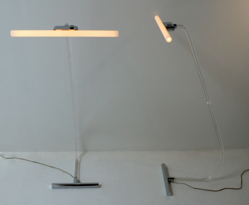 Rare Crylicord Floor Lamps In Good Condition For Sale In Dallas, TX