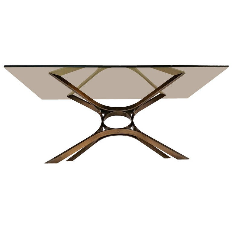 Bronze Woman Coffee Table: Dramatic Oil Rubbed Bronze Dunbar Cocktail Table At 1stdibs