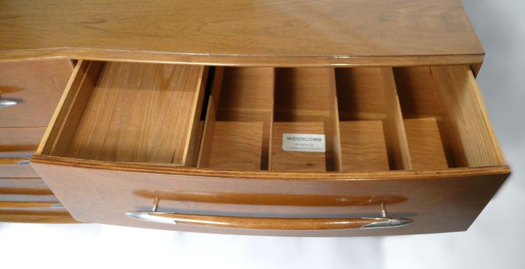 Silver Widdicomb Dresser Designed by T.H. Robsjohn-Gibbings For Sale