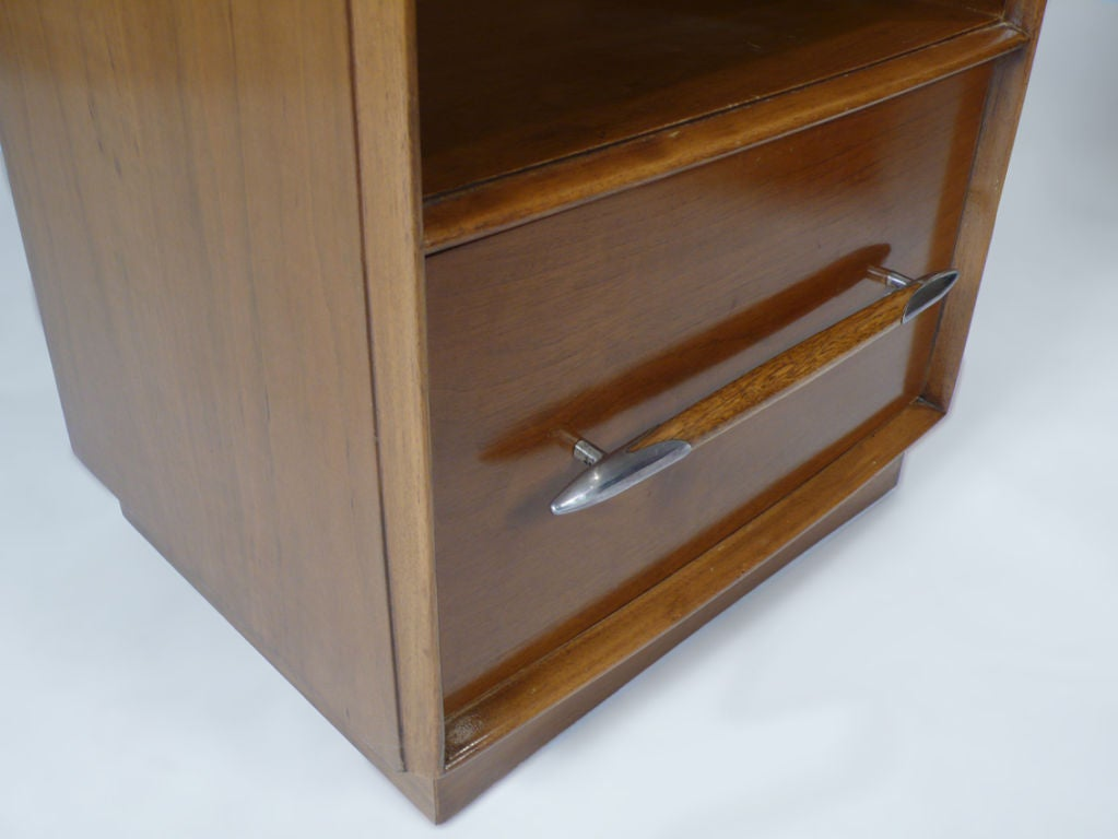 Silver Widdicomb Nightstands Designed by T.H. Robsjohn-Gibbings for Widdicomb For Sale