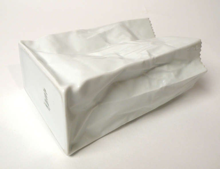 Mid-Century Modern Tapio Wirkkala Porcelain Paper Bag Vases For Sale