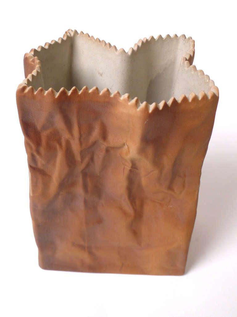 Tapio Wirkkala Porcelain Paper Bag Vases For Sale 1