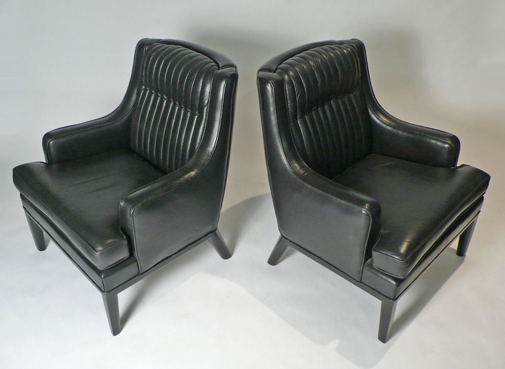 Monteverdi   Young Black Leather Club Chairs 3