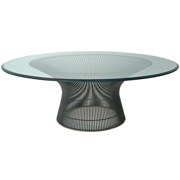 Early Bronze Warren Platner Cocktail Table At 1stdibs