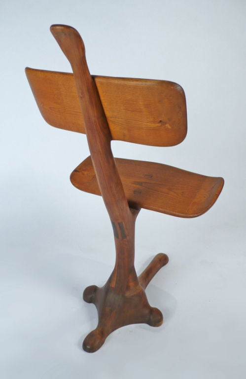 California Crafts Movement Chair - Sculpture In Excellent Condition For Sale In Dallas, TX