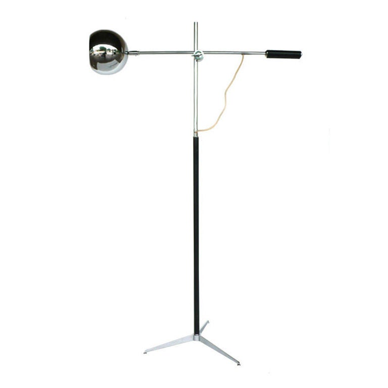 In the Style of Arteluce Tripod Floor Lamp
