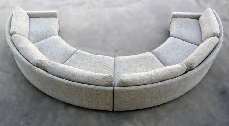 Milo Baughman Semi-Circular Party Sofa at 1stdibs