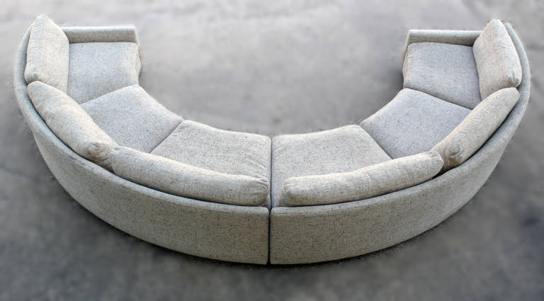 Charmant Milo Baughman Semi Circular Party Sofa For Sale 3