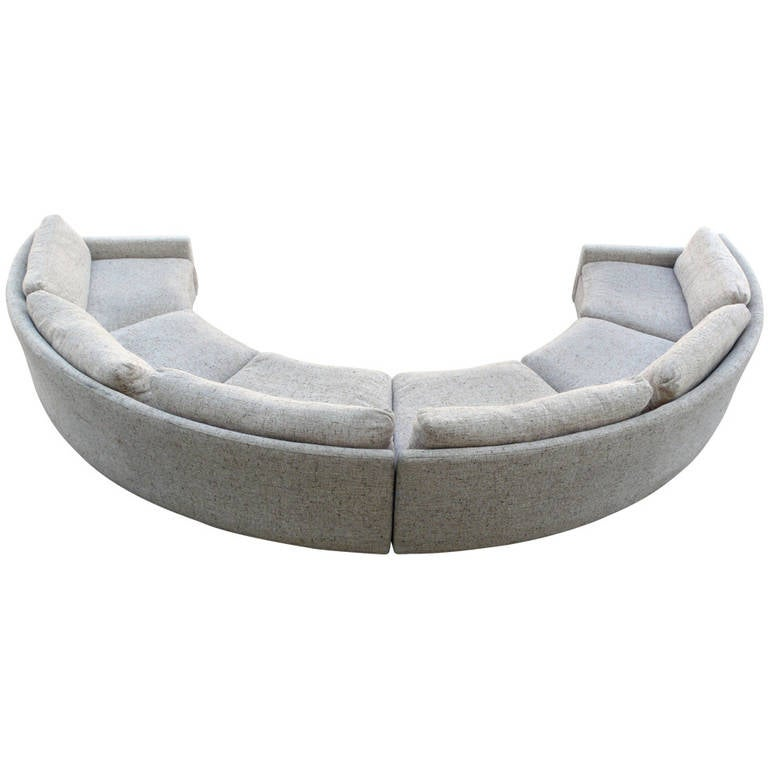 Milo Baughman Semi Circular Party Sofa At 1stdibs