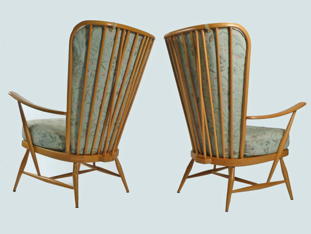 High Back Lounge Chairs By Lucien Ercolani At 1stdibs