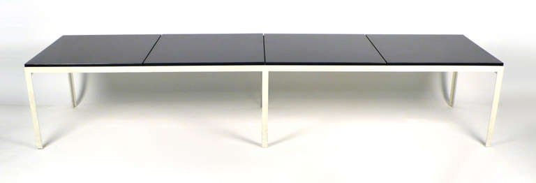 American Architectural Florence Knoll T-Angle Table Bench For Sale