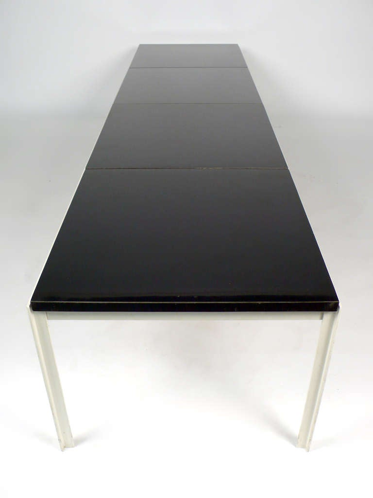architectural florence knoll t angle table bench for sale at 1stdibs. Black Bedroom Furniture Sets. Home Design Ideas