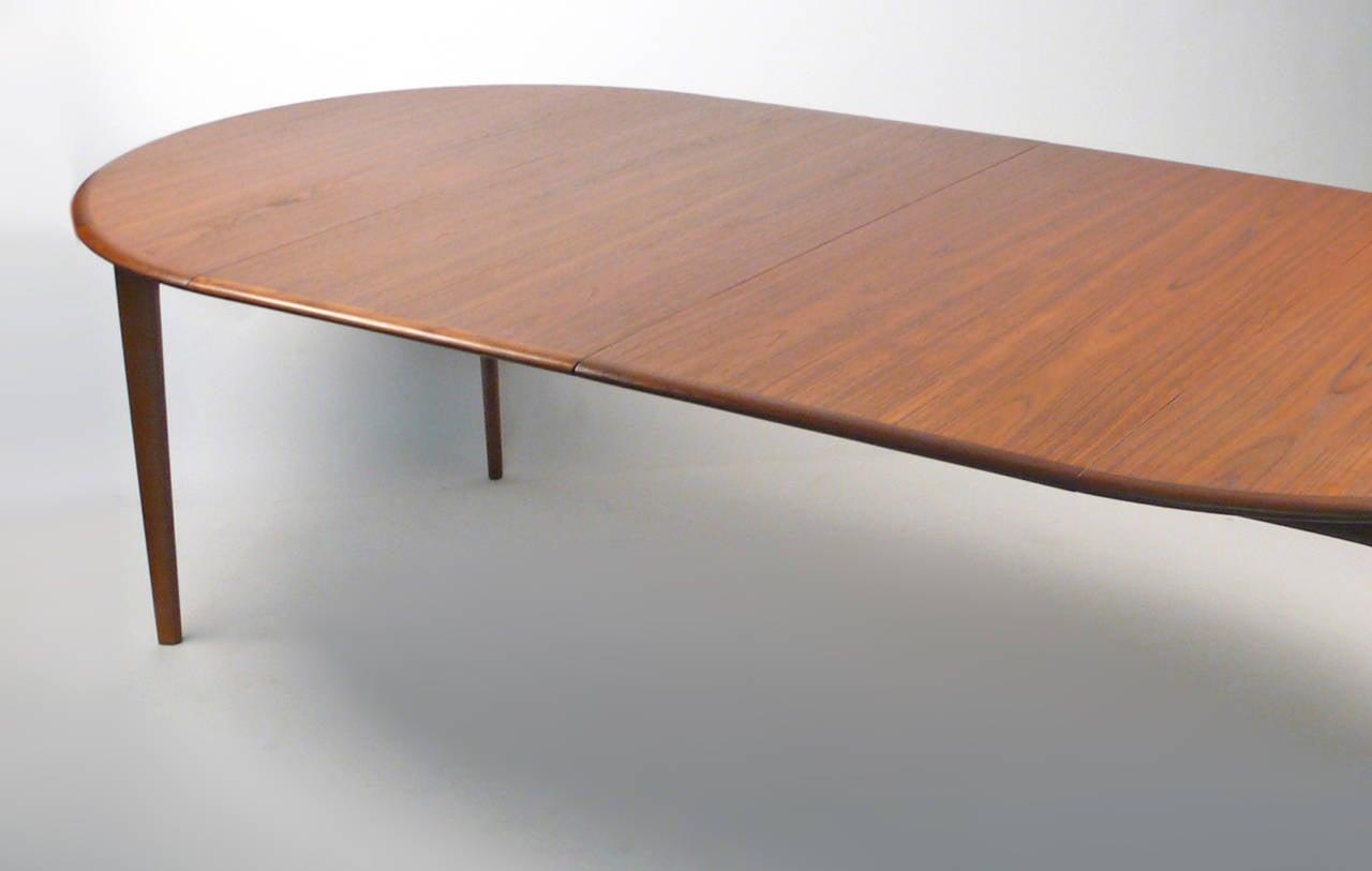Svend Madsen Danish Modern Extension Dining Table At 1stdibs