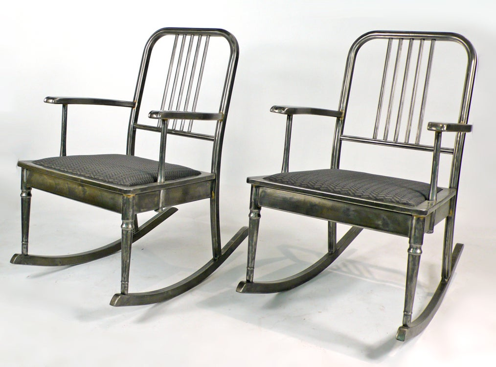 Mid-20th Century Machine Age Rocking Chair For Sale