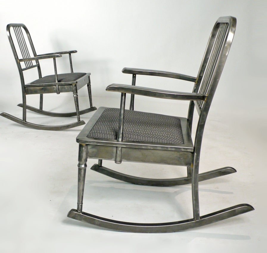 Steel Machine Age Rocking Chair For Sale