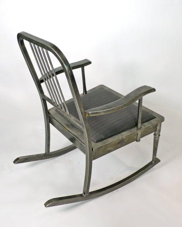 Machine Age Rocking Chair For Sale 1