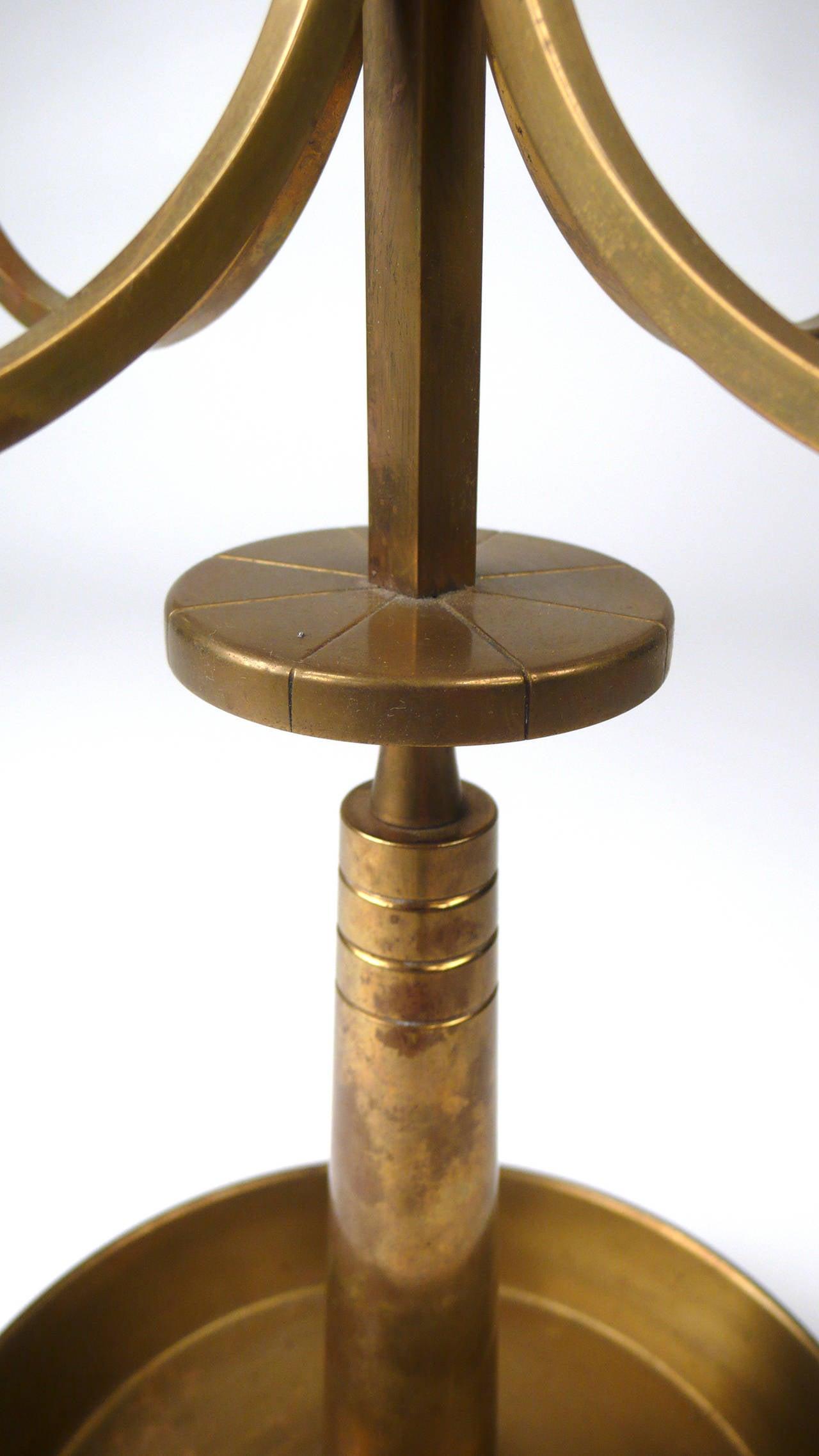 Brass Tommi Parzinger Candelabra for Dorlyn For Sale