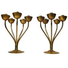 Pair of Hayno Focken German Candleholders