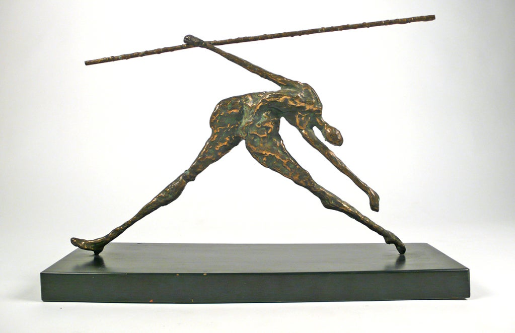 Mid-Century Modern Bronze Figural Sculpture by Curtis Jere For Sale