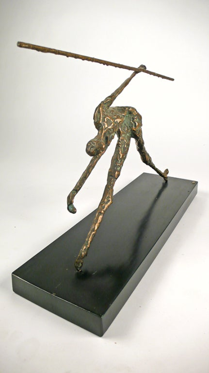 American Bronze Figural Sculpture by Curtis Jere For Sale