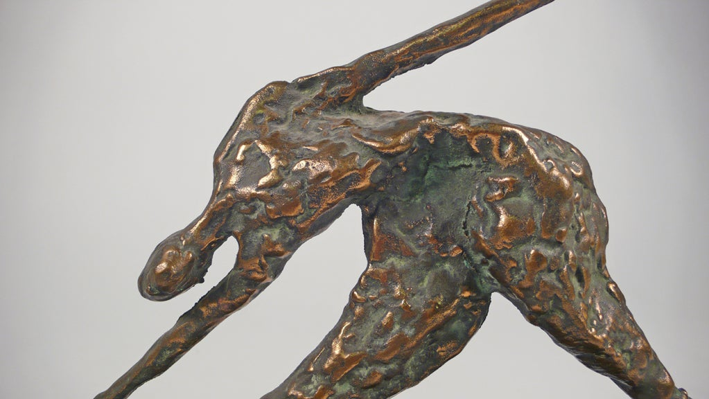 Late 20th Century Bronze Figural Sculpture by Curtis Jere For Sale