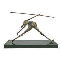 Bronze Figural Sculpture by Curtis Jere