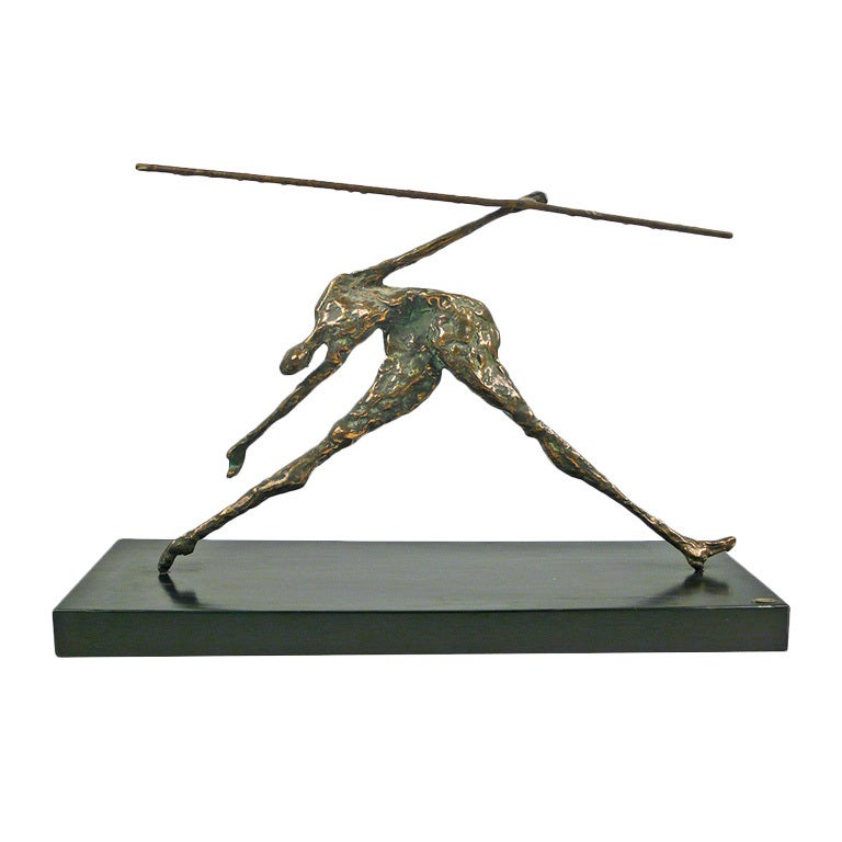 Bronze Figural Sculpture by Curtis Jere For Sale