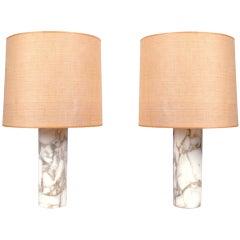 Calcutta Marble Nessen Lamps