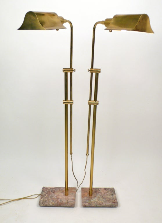 Matching Pair Of Brass Floor Lamps For Sale At 1stdibs