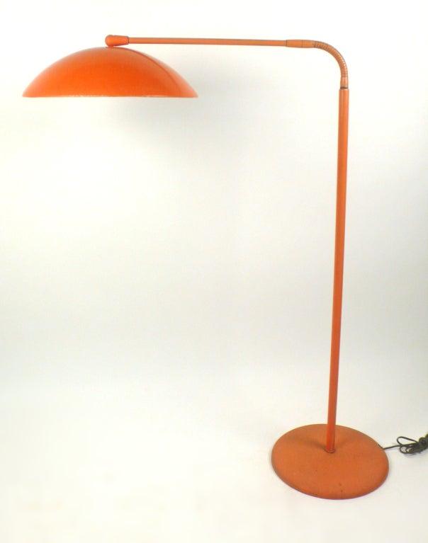 American Adjustable Floor Lamp by Kurt Versen