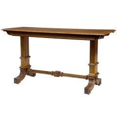 19th Century Victorian Pollard Oak Metamorphic Buffet Table