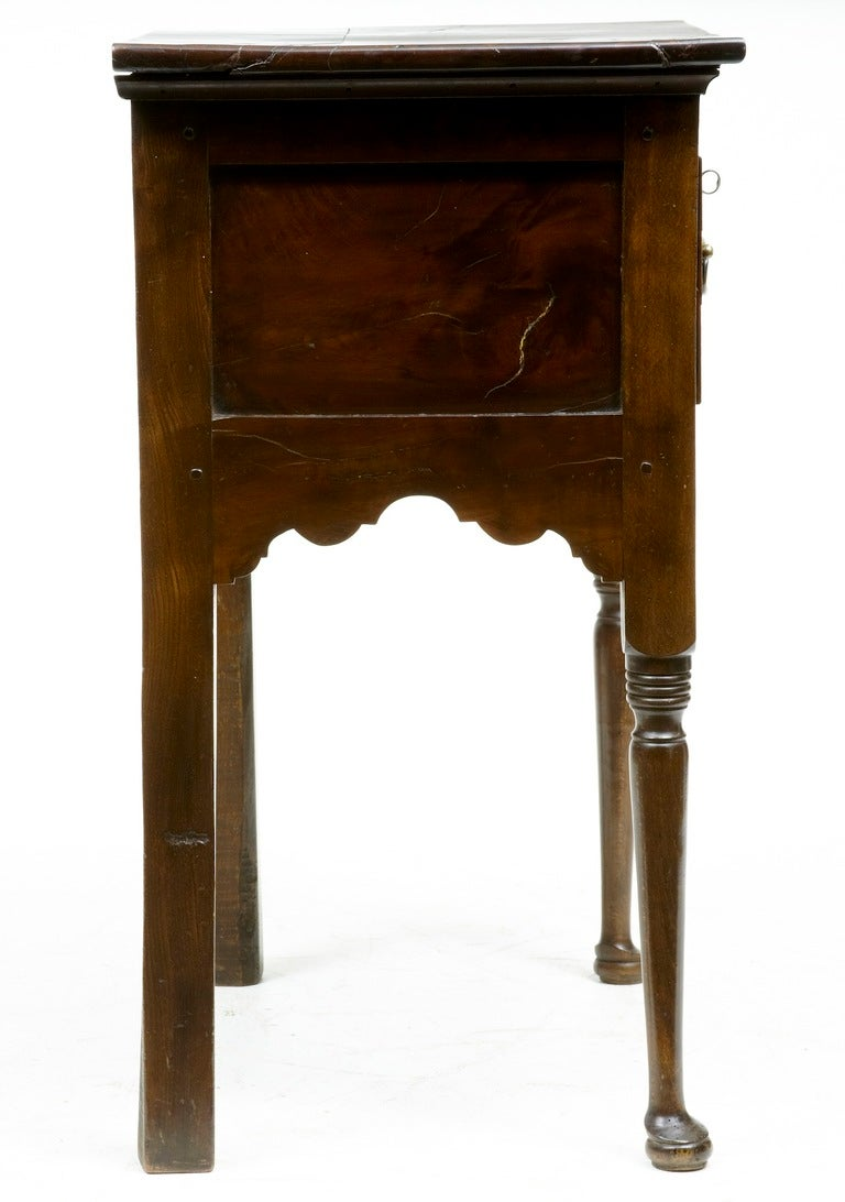 Georgian 18th Century, Antique Small Yew Wood Side Table Dresser For Sale