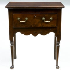18th Century, Antique Small Yew Wood Side Table Dresser