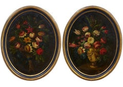 18th Century Matched Pair of Gasparo Lopez Floral Still Lifes
