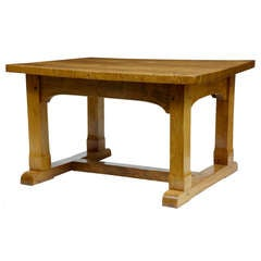 Mid-20th Century Ash Table Desk in the Arts & Crafts Taste